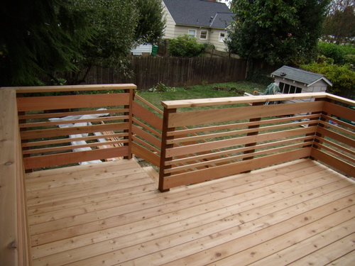 Marvelous I Removed The Existing Boards That Were Rotting And Replaced Them With 2×6  Tight Knot, Western Red Cedar Decking. The Rebuild Included New Posts,  Railings ...
